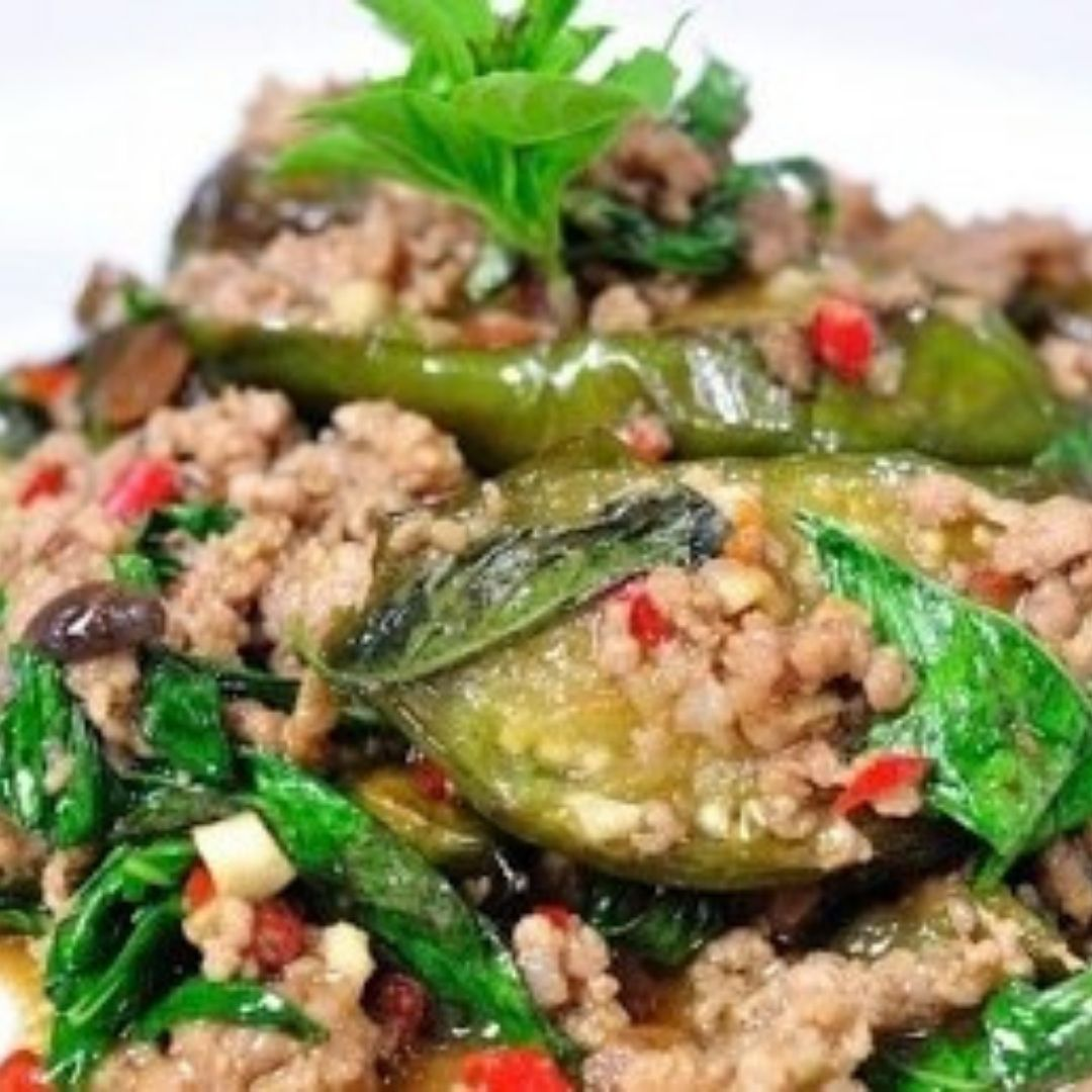 Puey's Spicy Eggplant Stir Fry
